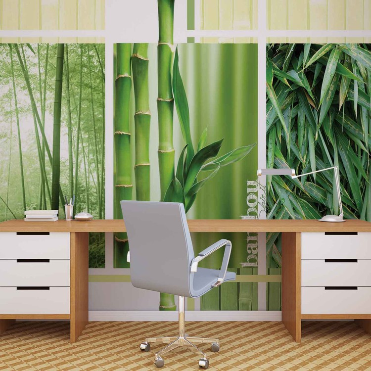 Bamboo forest nature wall paper mural buy at europosters for Bamboo wall mural