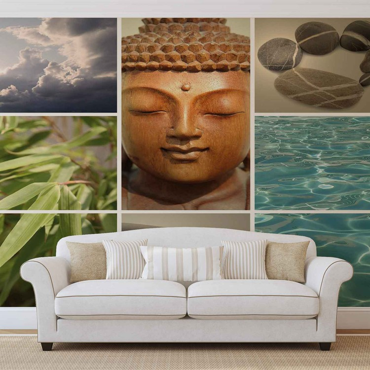 Zen calming scene wall paper mural buy at europosters for Poster mural geant zen