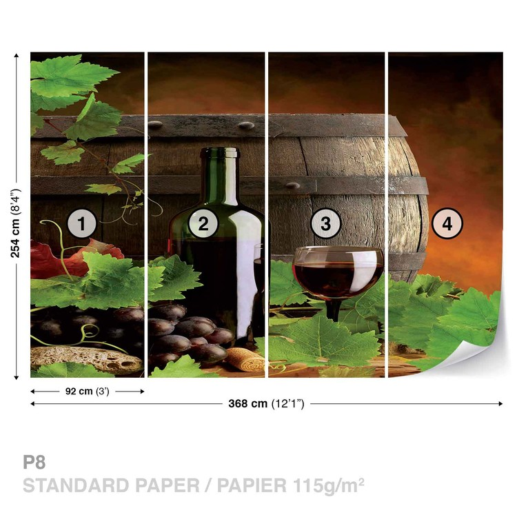 wine wall mural for your home buy at europosters