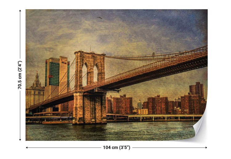 Brooklyn bridge wall paper mural buy at for Brooklyn bridge mural wallpaper