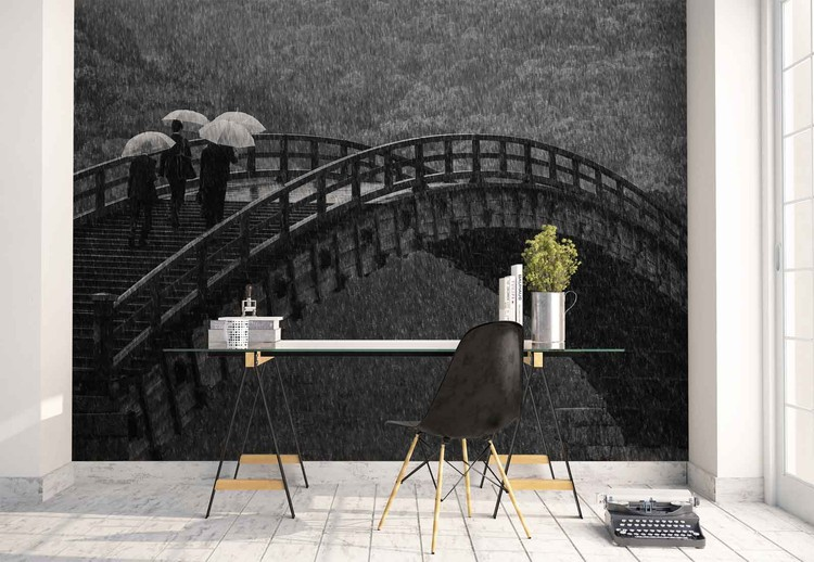 Rainy walk wall paper mural buy at europosters for Monsoon home wallpaper uk