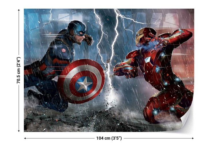 Marvel avengers 10904 wall paper mural buy at europosters for Avengers wall mural uk
