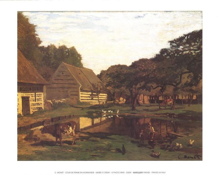 A Farmyard In Normandy Reproduction d'art