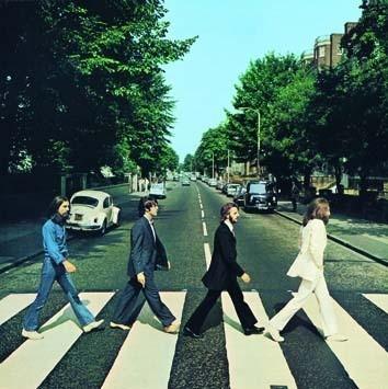 ABBEY ROAD ALBUM COVER Plaque métal décorée