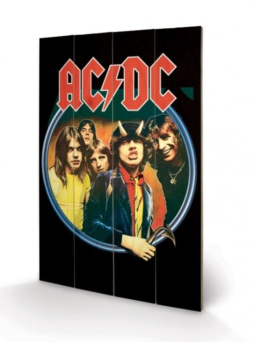 AC/DC - Group Panneaux en Bois