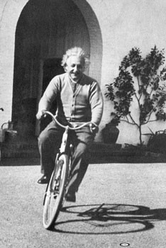 Albert Einstein – ride on bike Affiche