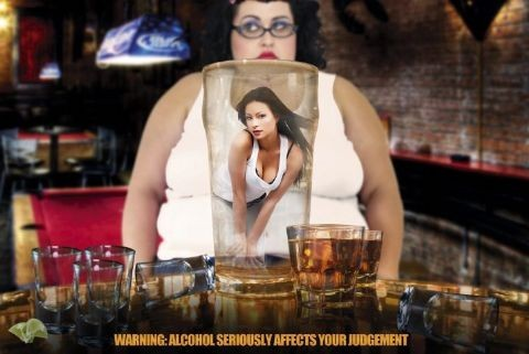 Alcohol Warning Affiche