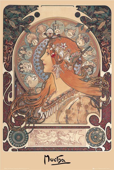 Alfons Mucha - zodiac Affiche