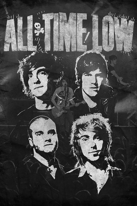 All time low - faces Affiche