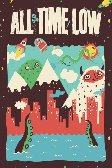 All time low - monsters Affiche
