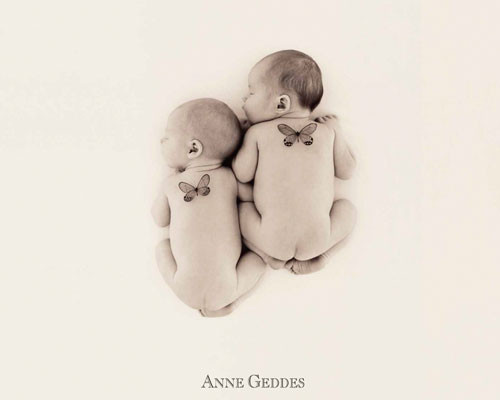 Anne Geddes - 2 butterflies Affiche