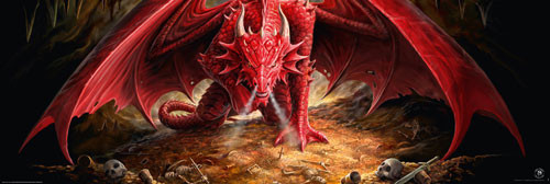 ANNE STOKES - dragons lair Affiche