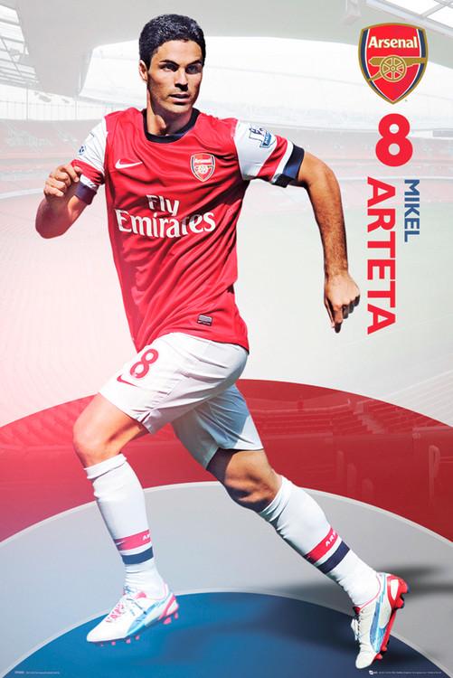 Arsenal - arteta 12/13 Affiche