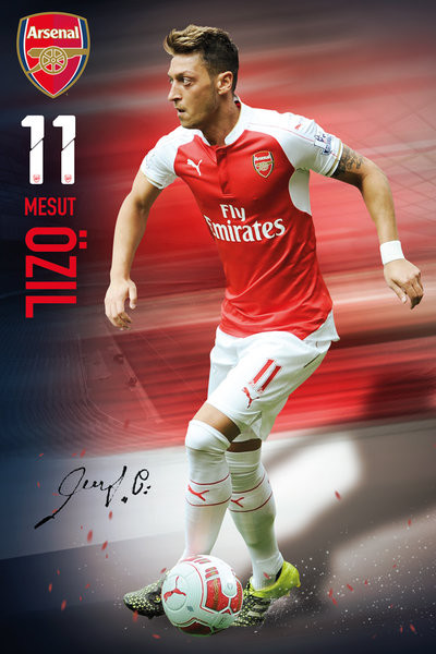 Arsenal FC - Ozil 15/16 Affiche