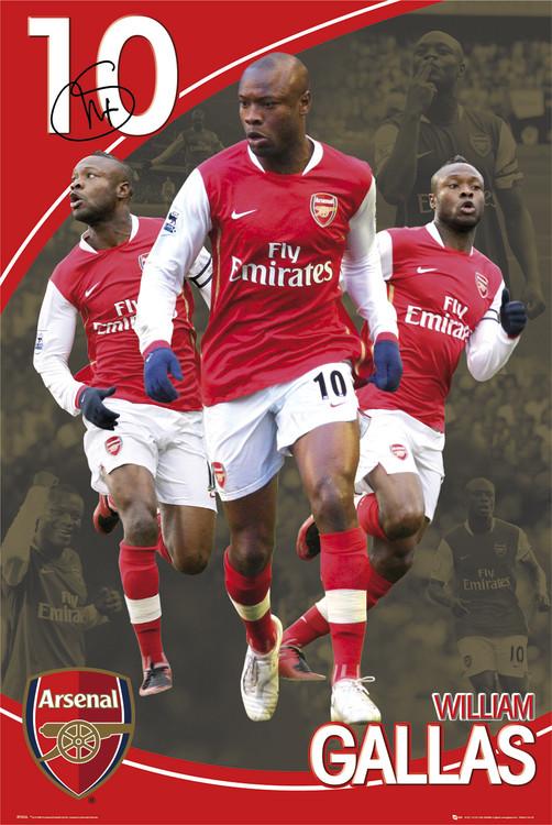 Arsenal - gallas 07/08 Poster