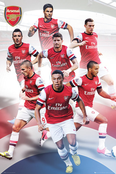 Arsenal - players 12/13 Affiche