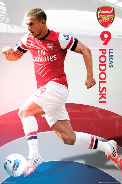 Arsenal - Podolski 12/13 Affiche