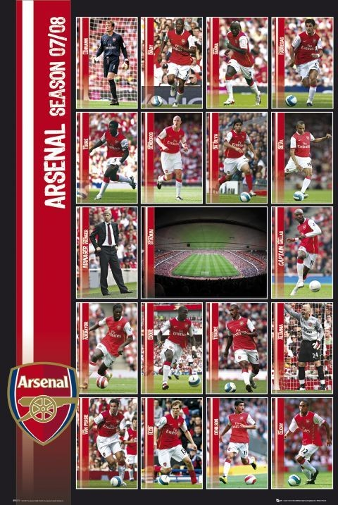 Arsenal - squad profiles 07/08 Affiche