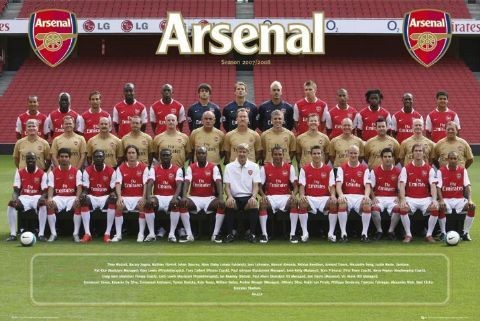 Arsenal - Team photo 07/08 Poster