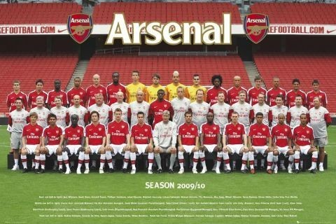 Arsenal - Team photo 09/10 Affiche