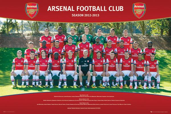 Arsenal - Team photo 12/13 Affiche