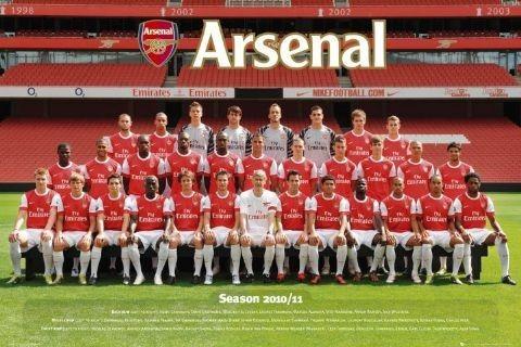 Arsenal - Team photo 2010/2011 Affiche