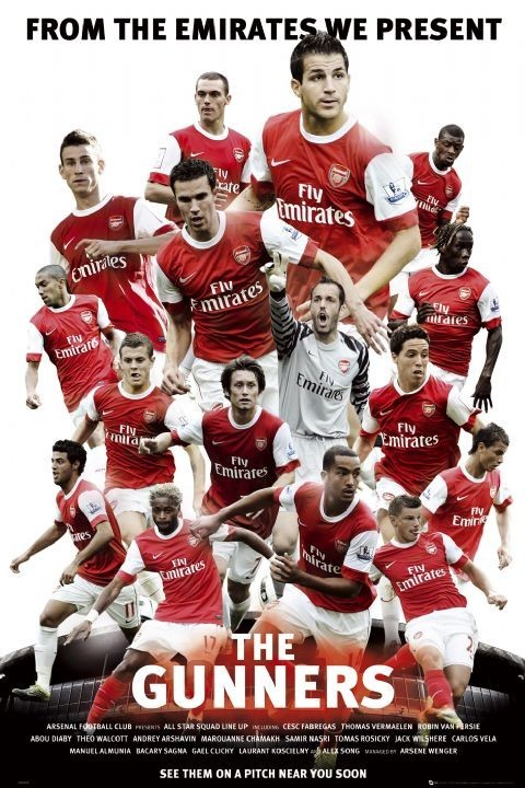 Arsenal - the gunners 2010/2011 Affiche