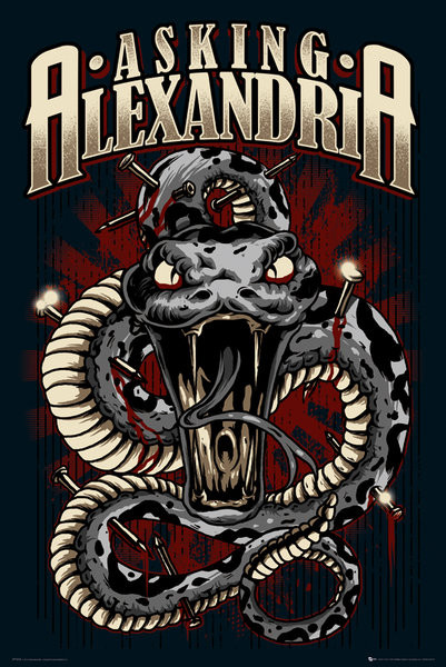 Asking Alexandria - snake Affiche