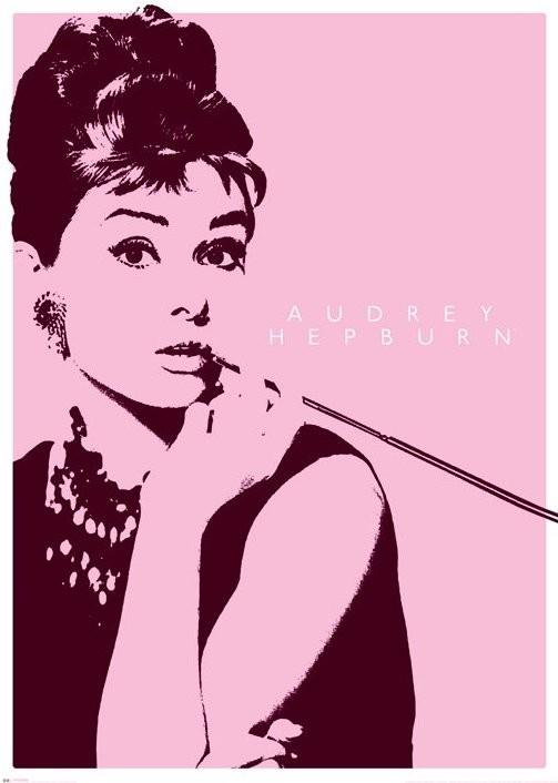 AUDREY HEPBURN - cigarello Affiche