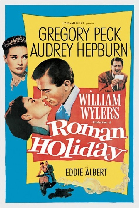 AUDREY HEPBURN - roman holiday  Affiche
