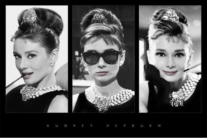 Audrey Hepburn - triptych Affiche