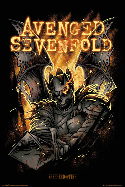 Avenged Sevenfold - Sheperd of Fire Affiche