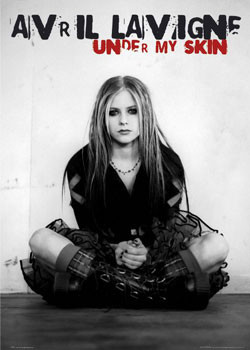 Avril Lavigne - under my skin Affiche