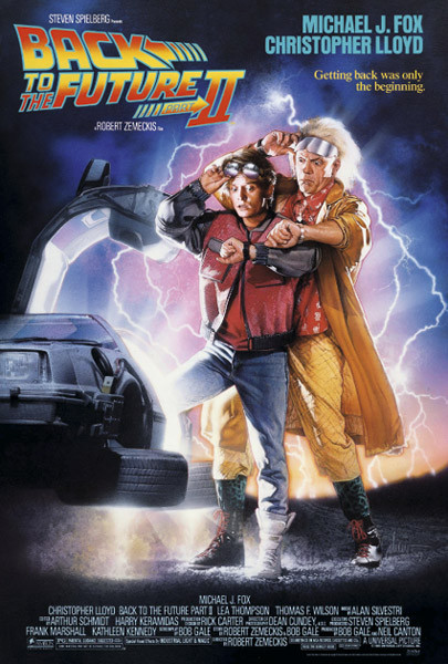 Back To The Future II - Back Affiche
