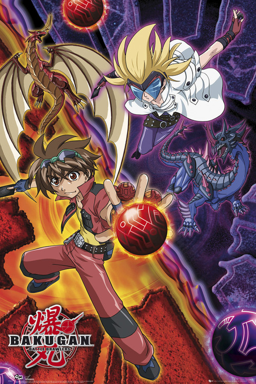 BAKUGAN - dank and masq Affiche