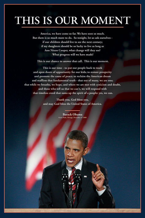 Barack Obama - this is our moment Affiche