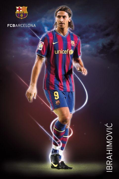 Barcelona - ibrahimovic 09/10 Affiche