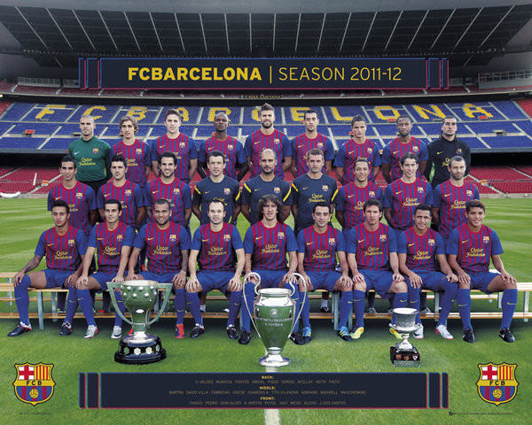 Barcelona - Team photo Affiche