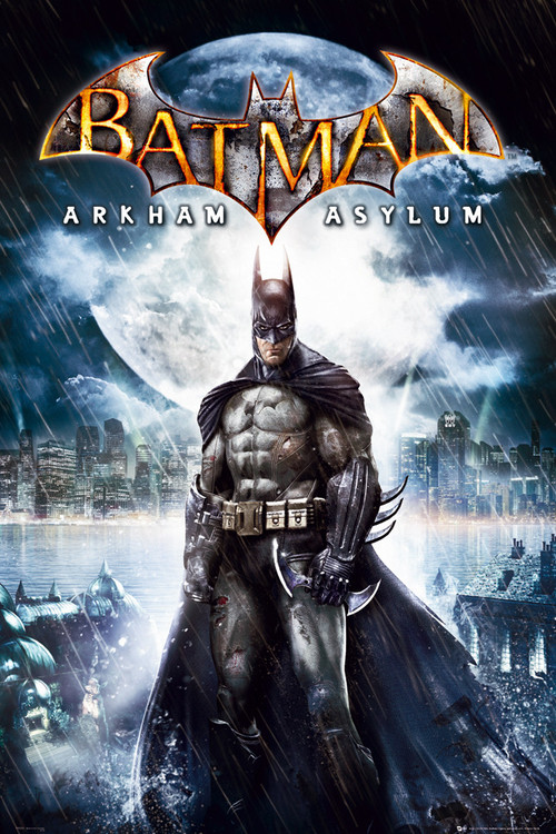 BATMAN ARKAM ASYLUM - batman Affiche