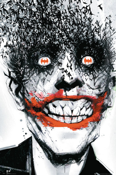 BATMAN Comic - Joker Bats Affiche