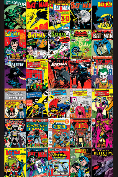 BATMAN - covers Affiche
