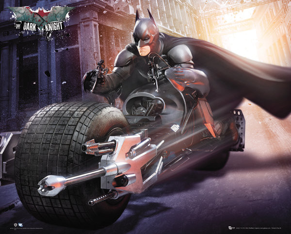 BATMAN DARK KNIGHT RISES - bike Affiche