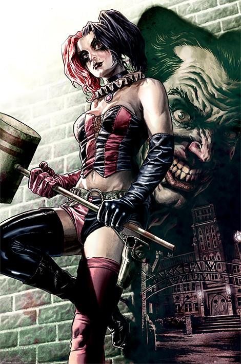 Batman - Harley Quinn Pose Affiche