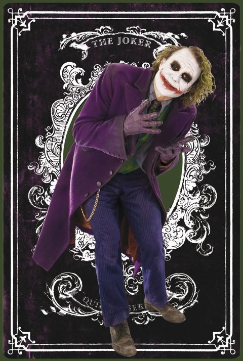 BATMAN - joker card Affiche