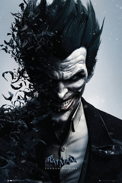 BATMAN ORIGINS - joker bats Affiche