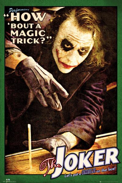 BATMAN THE DARK KNIGHT - joker trick Poster
