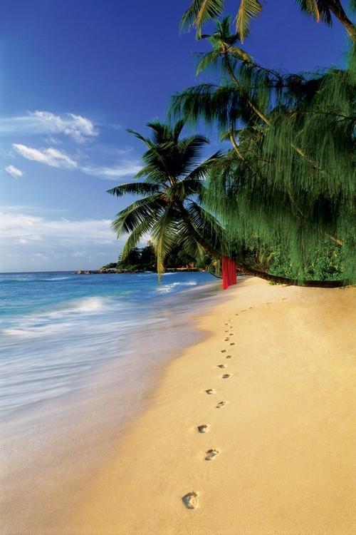 Beach footsteps Affiche