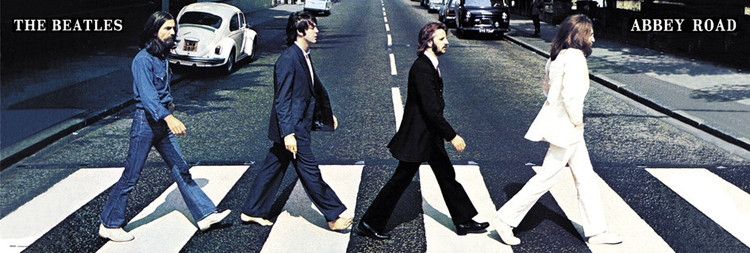 Beatles - abbey road Affiche