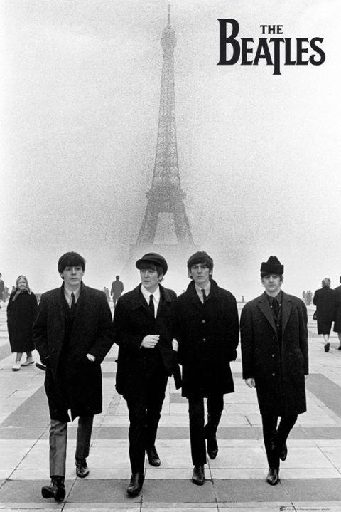 Beatles - in paris Affiche