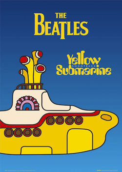 Beatles - yellow submarine Affiche